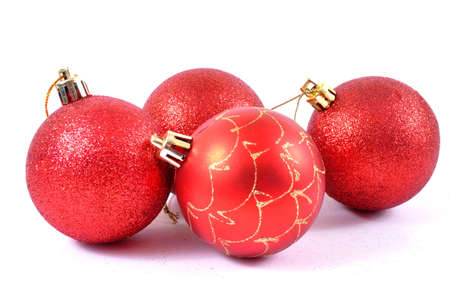 Red and golden baubles