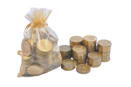 purse with money Stock Photo