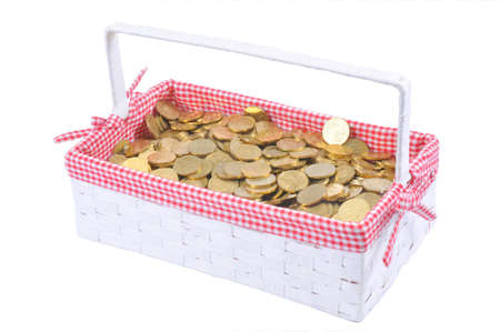 Trash and coins Stock Photo