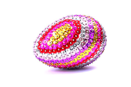 Easter egg with sequins Stock Photo