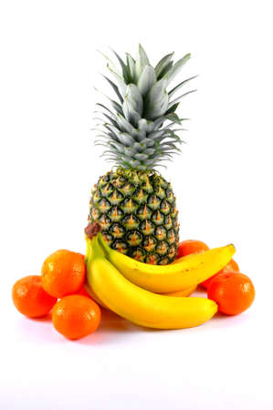 Fruit, pineapple, bananas, tangerines