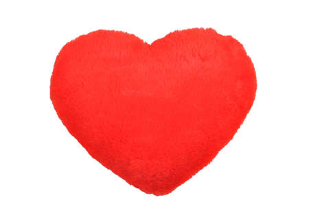 Red plush heart