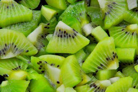 Sliced fresh kiwi
