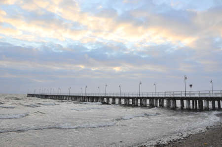 Pier in Gdynia, Poland Stock Photo