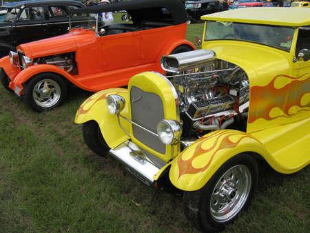 Yellow Streetrod Stock Photo - 19415052