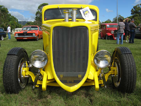 Yellow Streetrod Stock Photo - 19415070