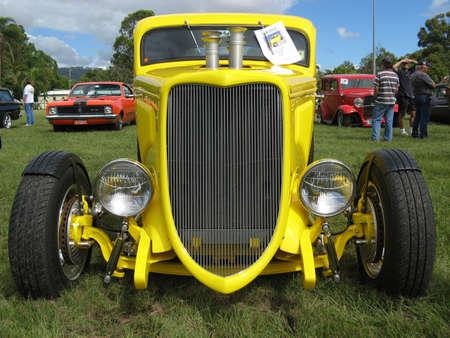 Yellow Streetrod Stock Photo - 19415070
