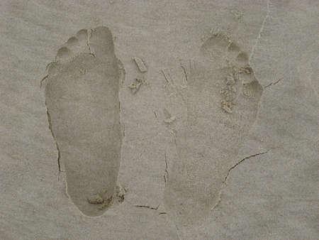 1 person: Huellas en la arena - 1 persona