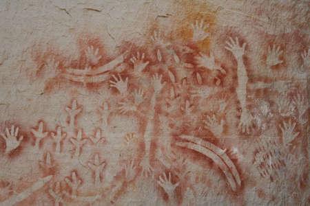 Aboriginal Hand prints, Carnarvon Gorge photo
