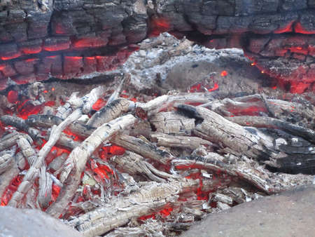 embers: Embers and Ashes in fire Stock Photo