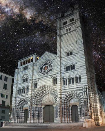 cattedrale: Cattedrale di San Lorenzo a Genova Stock Photo