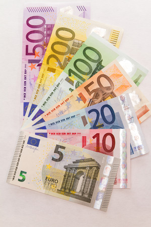 Euro banknotes as a variety of new 5er Standard-Bild