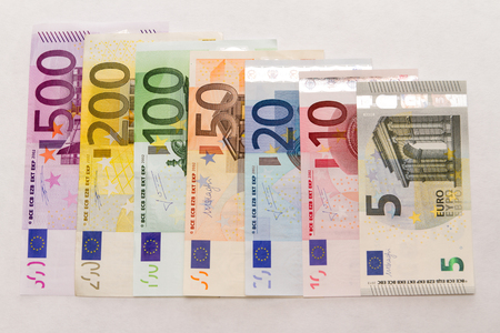 Euro banknotes of new 5er