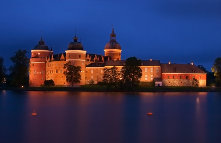 The old 16th century castle Gripsholm, Sweden Editorial