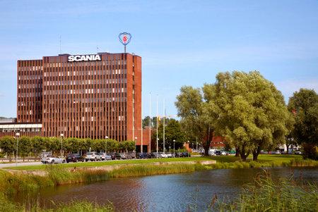headquartered: SCANIA truck manufacturer headquartered in Sodertalje, Sweden. Editorial