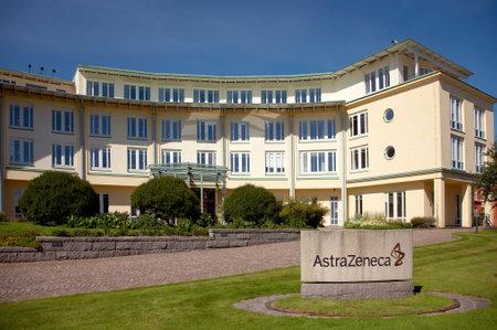 Sodertalje, Sweden . June 30, 2012- AstraZeneca office facility  in Sodertalje, Sweden. Editorial