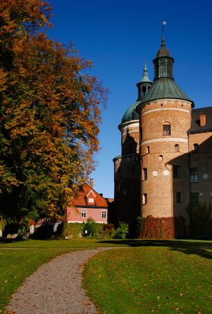 Autumn at Gripsholm Castle in Mariefred Sweden.