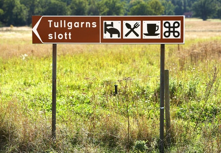 Tullgarn, Sweden - September 15, 2012: Route guidance to the royal Tullgarn palace. Stock Photo - 15240350