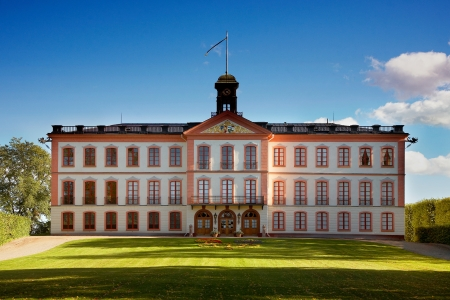 the royal county: Tullgarn, Sweden - September 15, 2012: Tullgarn palace seen from the land side.