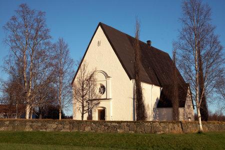 nger: Lovanger, Sweden - November 5, 2012: Lovanger church in northern Sweden.