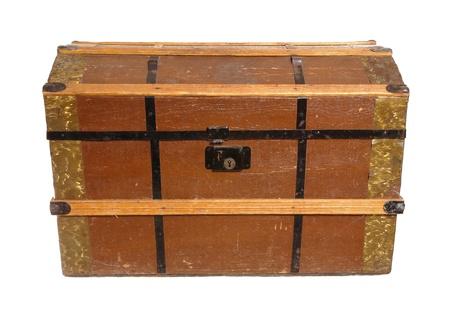emigranti: Un tronco tipico comunemente usata dagli emigranti svedesi, quando hanno viaggiato negli Stati Uniti durante il 1800 e 1900. Il tronco è chiamato tronco americano. Archivio Fotografico
