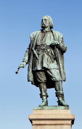 gustaf: Orebro, Sweden  Statue of Engelbrecht Engelbrektsson king of Sweden 1435-1436, erected in 1865 at the town square   Artist Carl Gustaf Qvarnstr�m  1810-1867   Editorial