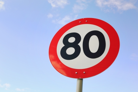Speed limit 80 km   h on road in Norway