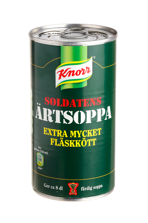 knorr: Stockholm, Sweden - October 17, 2013  A green tin with the soldier