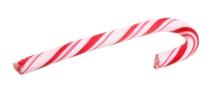 A peppermint stick isolated on white background