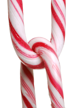 isoalated: Chain of candy canes isoalated on white background,