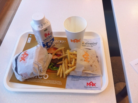 max: Hamburger lunch at Max in Sweden