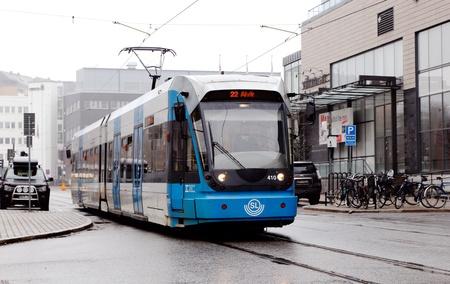 solna: Stockholm tramway Tvarbanan in Solna