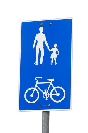 Norwegian bicycle and pedestrian shared route