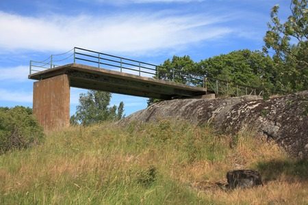 unsuccessfully: An abandoned bridge leads to nowhere