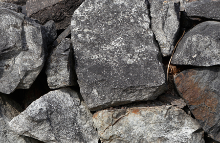 stonewall: Closeup of a stonewall.