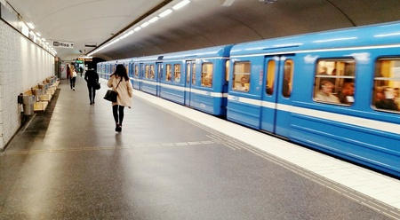urban: Stockholm subway station