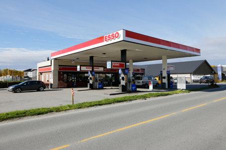 Norwegian Esso service station in Roros, Norway.