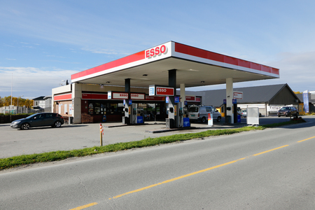 service station: Norwegian Esso service station in Roros, Norway.
