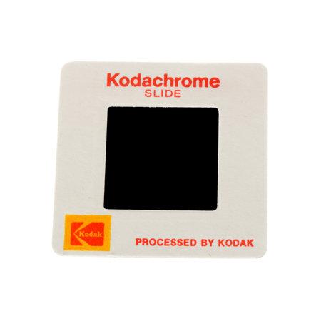 kodak: Stockholm, Sweden - Mars 14, 2016: One Kodak Kodachrome 126 paper framed slide isolated on white.