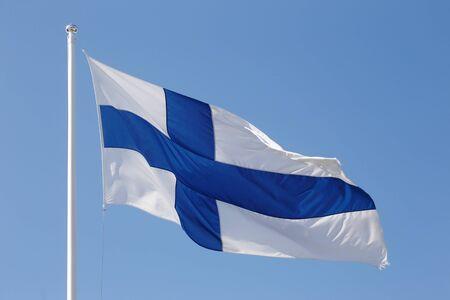 Die Flagge von Finnland.