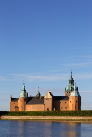 Morning light at Kalmar castle located in Kalmar in the Swedish province of Smaland. View from the North-Eastern side. Editorial