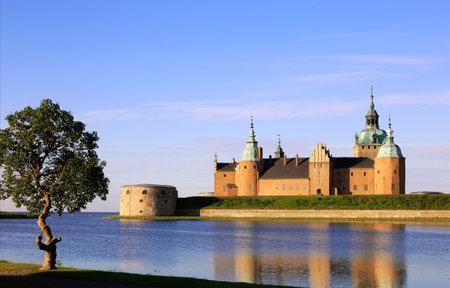 Exterior of the Kalmar castle located at the Baltic seas in Kalmar, Sweden. Editorial
