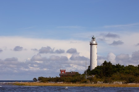 The lighthouse Lange Erik at the Swedish Oland island north end.