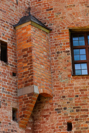 Exterior of a old toiltet at the Gripsholm castle with aoutdoor  free fall. Editöryel