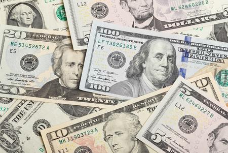 Full frame image with U.S. Dollars banknontes.