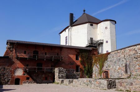 View of the medieval Nykoping castle with its court yard located in the Swedish province of Sodermanland.