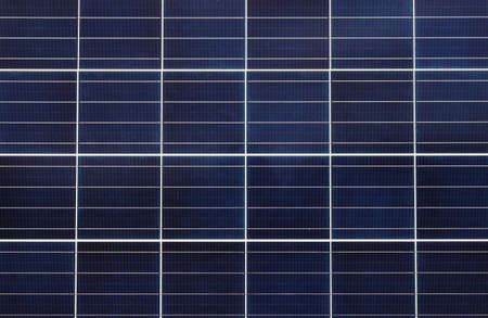 Close-up full frame view of a solar panel assembly for supply solar electricity to electrical equipment
