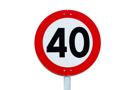 Speed limit sign forty.