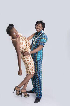 scandals: Cheerful couple having fun
