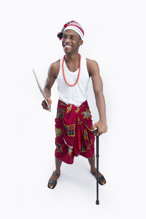 white singlet: A handsome young igbo chief